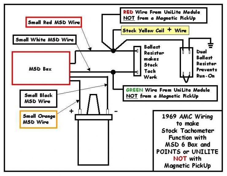 Msd 6al To Stock Amx Tach - The Amc Forum