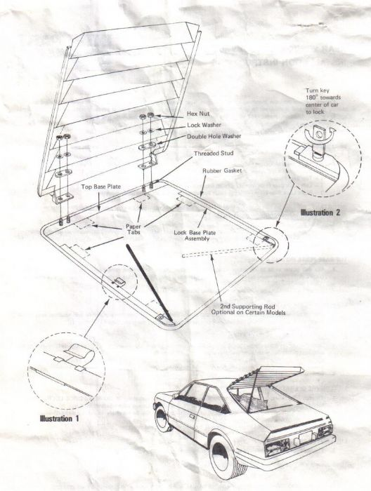 rear window louvers on a javelin the amc forum page 1 69 AMX Interior i found these instructions from interparts on louver installation