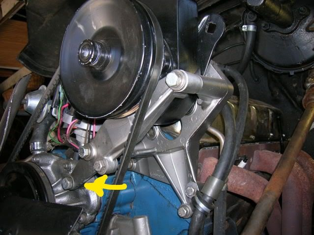 AMC 360 power steering bracket question - The AMC Forum