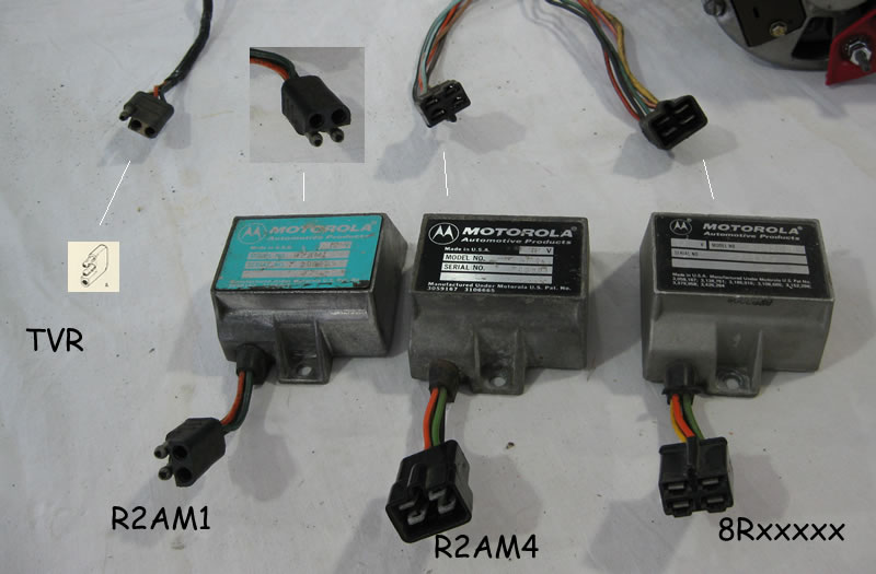 alternator and regulator id and connectors the amc forum here we see the regulators and the associated wiring harness connector ends