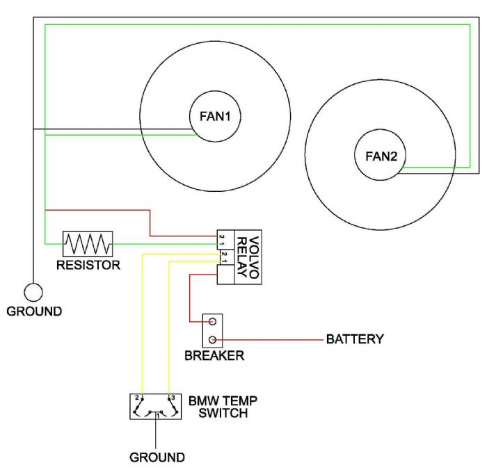Contour Electric Fan Install - The AMC Forum - Page 1 | Volvo Fan Relay Wiring Diagram |  | The AMC Forum