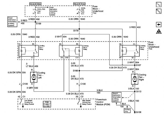 cooling fan relay wiring diagram for lsx 95 dodge caravan