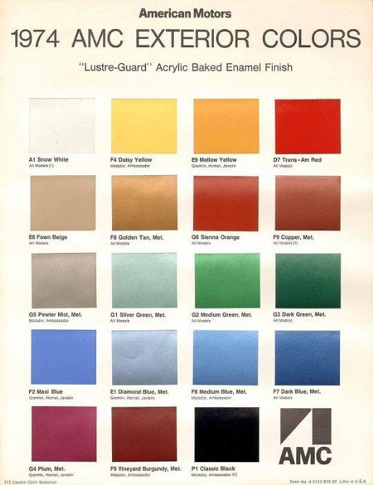 1974 Gremlin X Paint Codes The Amc Forum
